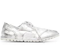 Derby-Schuhe mit Metallic-Print