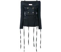 - strap detail off-shoulder blazer - women