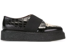 wedged strap detail loafers