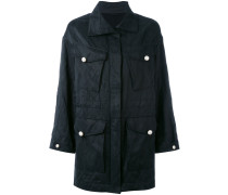 - flap pocket parka - women
