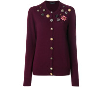 button embellished cardigan