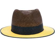 Panama-Hut mit Colour-Block-Optik