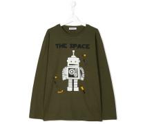 teen robot print long sleeve T-shirt