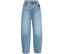Tapered-Jeans mit hohem Bund