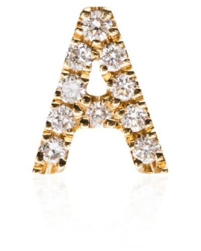 18kt 'A' Gelbgoldanhänger mit Diamanten