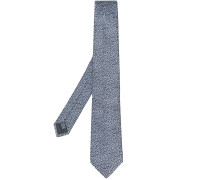 Daisy embroidered tie