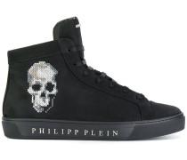 hi top skull sneakers