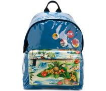 exotic print backpack