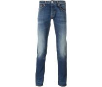 Skinny-Jeans mit Stone-Wash-Effekt