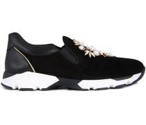 Verzierte Slip-On-Sneakers - women - Calf Suede