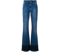 Bootcut-Jeans mit Fransen