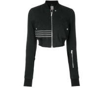 cropped bomber jacket with stripe detail