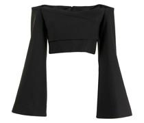 Asten wide-sleeve cropprd blouse