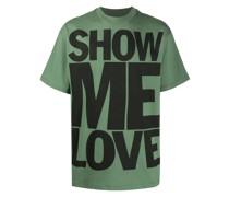 "T-Shirt mit ""Show me Love""-Print"