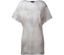 Gestricktes T-Shirt mit asymmetrischem Saum