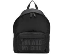 slogan print backpack