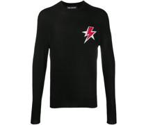 Intarsien-Pullover mit Blitz