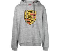 Turbo-print cotton hoodie