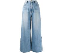 wide-leg oversized jeans