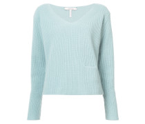 Vneck ribbed jumper