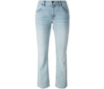 Cropped-Jeans mit ausgestelltem Bein - women