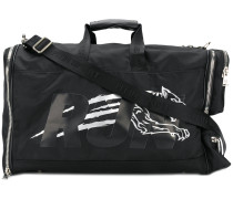 printed sports holdall