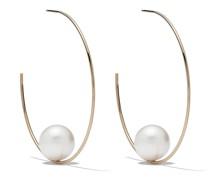 14kt Goldcreolen mit Perle