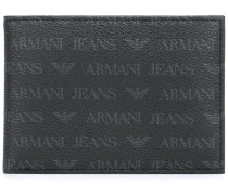 Portemonnaie mit Logo-Print - men - Leder