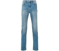 high rise straight stonewashed jeans