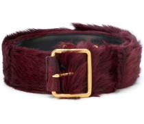appliqué buckle belt