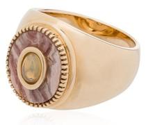 9kt 'Rhodocrosite' Goldring mit Opal