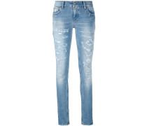 distressed skinny jeans - women