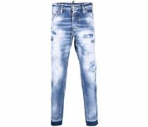 Schmale Jeans mit Acid-Wash-Effekt