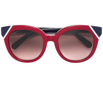 Zweifarbige Cat-Eye-Sonnenbrille - women