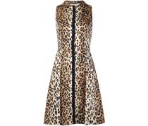 Ausgestelltes Kleid mit Leoparden-Print - women
