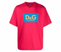 Kastiges T-Shirt mit Logo-Print