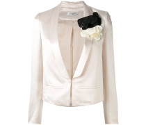 fitted embroidered blazer - women