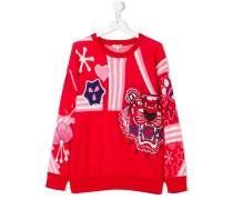 teen embroidered intarsia sweater
