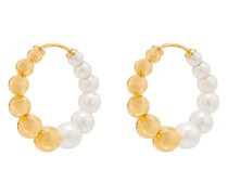 9kt Gelbgoldcreolen mit Perlen