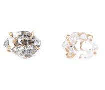 14kt Goldohrringe mit Herkimer Diamant