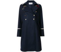 embroidered double breasted peacoat