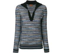 Pullover mit Plaidmuster