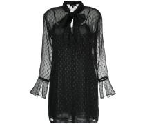 Semi-transparentes Hemd-Kleid