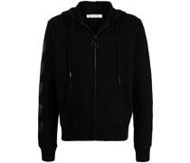 Diag Arrow-print zip-front hoodie