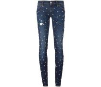 Skinny-Jeans mit Sternnieten