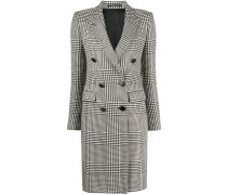 houndstooth check tailored coat