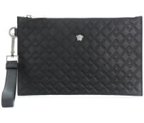 Greek Key embossed clutch bag