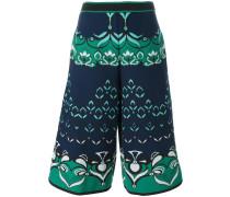 intarsia short trousers