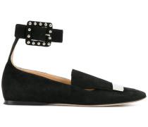 Wildleder-Loafer mit Knöchelriemen
