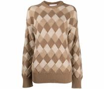 argyle-knit merino sweater